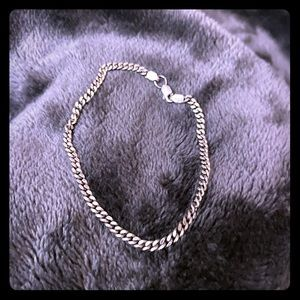 Jewelry - Sterling silver curb chain bracelet